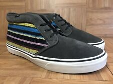 RARE🔥 VANS Chukka Textile Hiker Sole Sz 12 Multicolored Blanket Native American