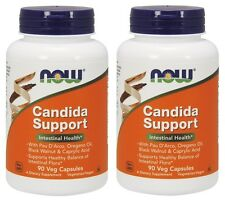 Now Foods Candida Support, Intestinal Health, 90 Veg Capsules, 2 Pack