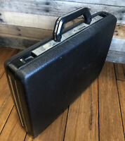 Samsonite Briefcase 007 Attache Delegate Vintage Hard Shell Black Key Lock NOS
