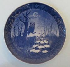 Royal Copenhagen Christmas plate, 1974, Winter Twilight
