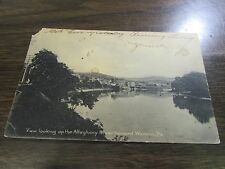 VINTAGE - VIEW LOOKING UP THE ALLEGHENY RIVER TOWARD WARREN PA -  POST CARD - VG
