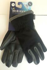 NEW ISOTONER Men SmarTouch Touchscreen Winter Gloves Waterproof Black Medium $50