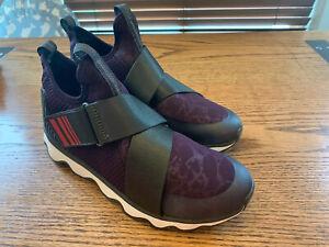 Sorel Kinetic Women Sneaker Casual Dark Plum Purple Red Black NL3374 Strap