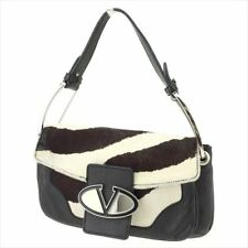 Valentino Garavani Shoulder bag Black Harako Leather Woman Authentic Used T9012