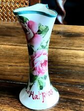 Lovely Antique Wemyss Ware Hat Pin Holder Painted with Flowers