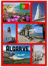 ALGARVE, PORTUGAL - SOUVENIR NOVELTY FRIDGE MAGNET - FLAGS / SIGHTS -  NEW/GIFT