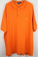 Polo Ralph Lauren Mens sz 5XB Big Orange Mesh Short Sleeve Shirt Yellow Pony