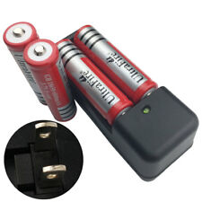 4 pc 18650 6800mAh 3.7V Li-ion Rechargeable Battery & 4.2V Charger US Plug