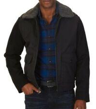 Nautica Men's Fleece collar Coat Jacket Black XXL Full Zip Wool Blend Insulated