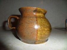 North Carolina Pottery Cup Mug Coffee Tea Brown/Blue Glazed Signed 2006