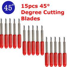 15pcs 45° degree Cutting Plotter Tungsten Blade Carbide for Roland Cutter UK
