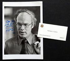 US SENATOR PATRICK PAT LEAHY Signed AUTOGRAPH PHOTO & Business Card / VERMONT
