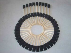 "Jen Mfg. 2"" Foam Paint Brushes Box of 48 Brushes"