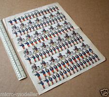 Cuirassiers mid-1800s Vintage Paper Soldier Sheet #336 Pellerin of Epinal France