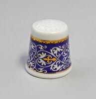 9988220 Porcelain Foxglove Ornament Gold-Blue Kämmer H3CM
