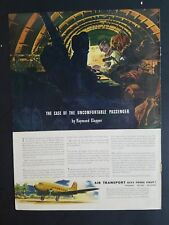 1943 Air transport case of the uncomfortable passenger airplane ad