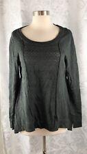 Belldini Open Weave Gray Long Sweater/Tunic Size XL Long Sleeve