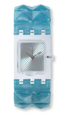 Swatch Square Blue Posh L Watch SUBK157A Analogue Plastic Blue, Green