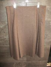 Authentic Burberry London brown wool/silk skirt size US 6 UK 8 made in Scotland