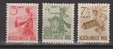 Nederlands Indie 334-336 MLH Netherlands Indies inheemse dansers 1948 VERY FINE