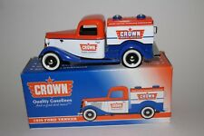 Liberty Classics Coin Bank, CROWN GASOLINE 1953 WILLYS JEEP STAKE BED TRUCK
