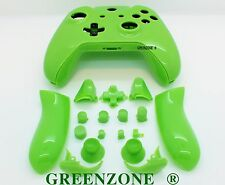 Green Solid Xbox One Controller Full Replacement Shell Mod Kit with Buttons