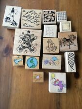 Rubber Stamp Lot lighthouse eart clown sea shells clouds fun Daisy kingdom PSX