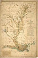 Map of the Alluvial region of Mississippi River, Antique Map, 1861