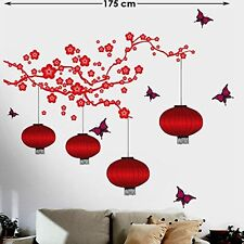 Wall Stickers Lanterns And Lamps In Attractive Bright Red Wall Decal Posters