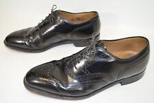 Johnston & Murphy Wingtip Oxford Shoes Black Lace Up Men's 9.5 D/B