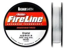 Beadsmith Fireline - Crystal - Beading Thread- 50 Yards (4lb Test)