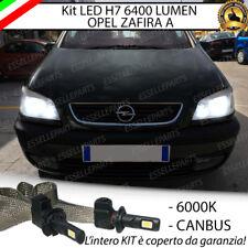KIT FULL LED OPEL ZAFIRA A LAMPADE LED H7 6000K BIANCO GHIACCIO 100% NO ERRORE