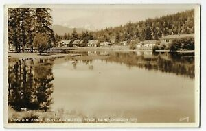 Cascade Range from Deschutes River Bend Oregon RPPC Eddy Real Photo Postcard