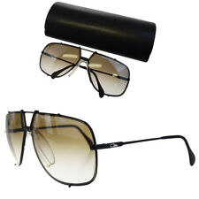 Auth CAZAL Logos TARGA Design Sunglasses Eye Wear Metal Black Germany 08BD410