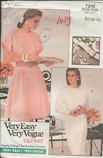out-of-print:  Vogue 7242 pattern, Schnittmuster, sizes 12-14-16,  Gr. 38 - 42