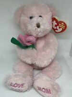 TY 2005 LOVE U MOM the BEAR BEANIE BABY - MINT with MINT TAGS - EUROPE EXCLUSIVE
