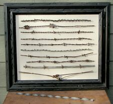 Antique Barbed Wire Framed Collection