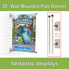 "Wall Mounted Pole Banner Bracket 30"" Hardware Only for Street Banner Prints"