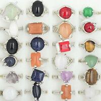 10Stk Großhandel Ringe Gemischter Viele Natürliche Mehrfarbig Stein Ring Schmuck