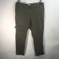 J. Jill Women's Size 14 Petite Green Cargo Capri Pants