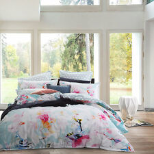 Logan and Mason JULIETTE MINT KING Size Bed Doona Duvet Quilt Cover Set NEW