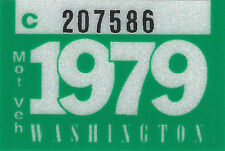 1979 WASHINGTON Vinyl Sticker Decal -CAR or TRUCK License Plate Reg. TAB TAG-New