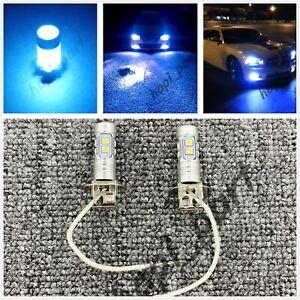 H3 CREE LED Fog Light Bulb Conversion Kit Super Bright Canbus 8000k ice blue 50W