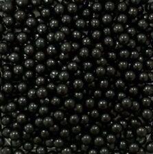 Black 8mm Edible Sugar Pearl Balls/Dragees - 50g