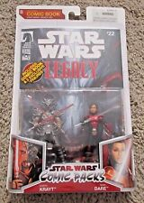 """STAR WARS DARTH KRAYT AND SIGEL DARE COMIC PACKS 3.75"""" LEGACY COLLECTION"""