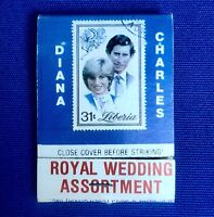 Vintage Royal Wedding Assortment Charles & Diana Matchbook Norman Rockwell Stamp