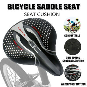 Big Wide Bum Bike Seat Bicycle Saddle Sporty Gel Cruiser Extra Comfort Soft Pad