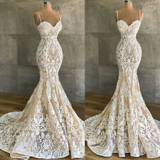 Mermaid Wedding Dresses Appliques Bridal Gowns Beaded Custom 4 6 8 10 12 14 16++