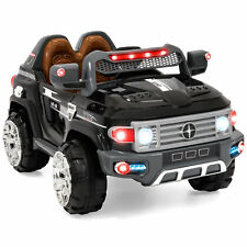 BCP 12V MP3 Kids Ride on Truck Car RC Remote Control, LED Lights, AUX and Music