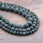 "4/6/8/10/12mm Natural Matte Kambaba Jasper Round Ball Loose Bead 15.5"" YZ18"